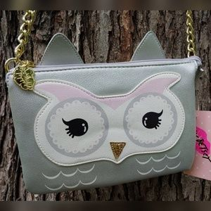Luv Betsey Owl Crossbody Bag